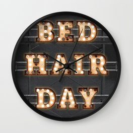 Bed Hair Day - Bulb Wall Clock