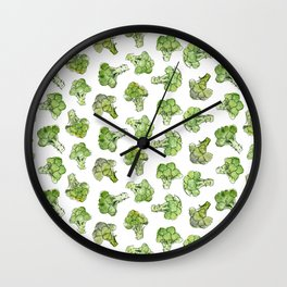 Broccoli - Scattered Wall Clock