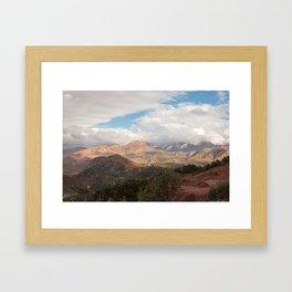 Tichka, A Long and Winding Road - Atlas Mountains, Morocco Framed Art Print