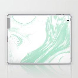 Marble mint 3 Suminagashi watercolor pattern art pisces water wave ocean minimal design Laptop & iPad Skin