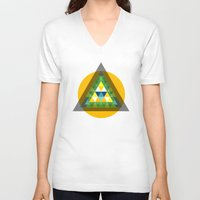 agents of shield V-neck T-shirts featuring shield by pixel.pwn | AK