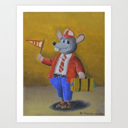 College Rat Art Print