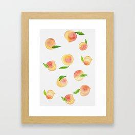 Fun Watercolor Peaches Framed Art Print