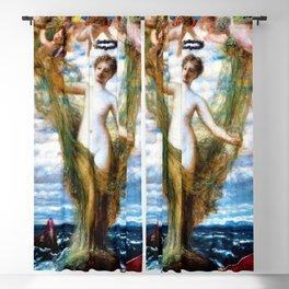 12,000pixel-500dpi - Venus Anadyomene - Arnold Bocklin Blackout Curtain