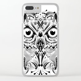 tribal owl Clear iPhone Case