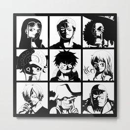 Mugiwara Metal Print