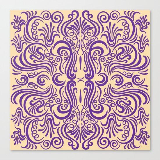 Vintage Ornaments Violet Canvas Print