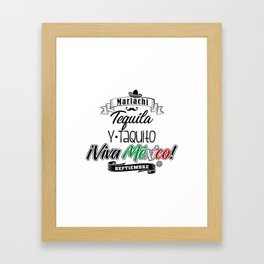 Tequila Taquito Framed Art Print
