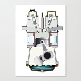 Diesel Induction Stroke Canvas Print
