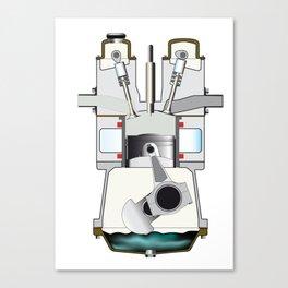 Diesel Induction Stroke Canvas Print