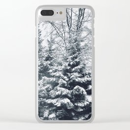 Let It Snow Photography Clear iPhone Case