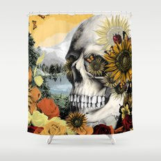 Reflections of Halloween Shower Curtain