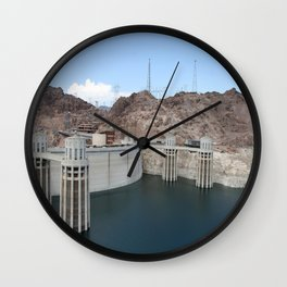 Hoover Dam And Lake Mead Wall Clock