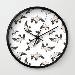 Birds Pattern Photo Collage Wall Clock