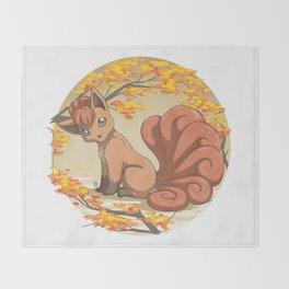 Vulpix Throw Blanket