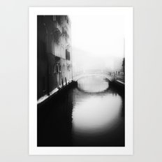 Under the bridge- Art Print