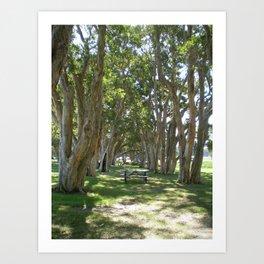 AMONGST THE TREES Art Print
