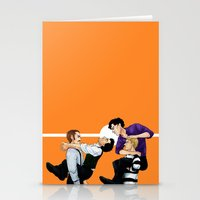 johnlock Stationery Cards featuring Sherlock vs. Holmes by Krusca