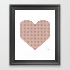 I love you this much... (light purple) Framed Art Print