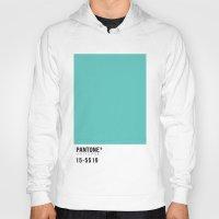 pantone Hoodies featuring Pantone Turquoise by Mariana Nabas