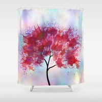 indian Shower Curtains featuring Indian Summer by Klara Acel