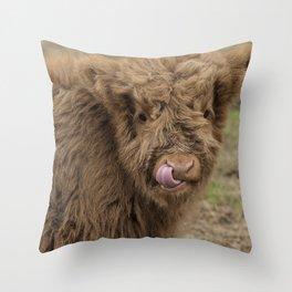 Scottish Highland cow Throw Pillow