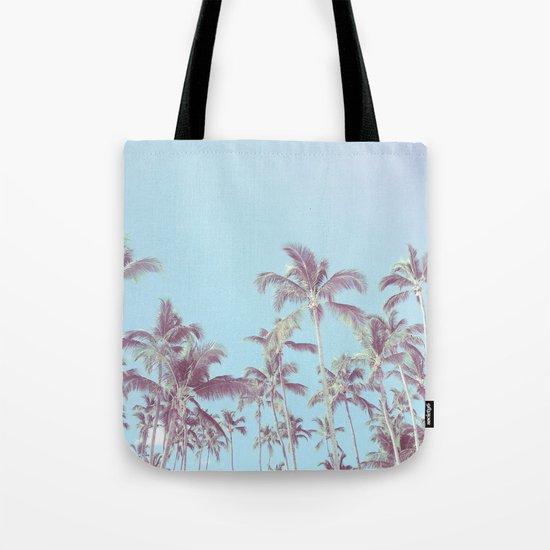 Vintage palm trees (blue) Tote Bag