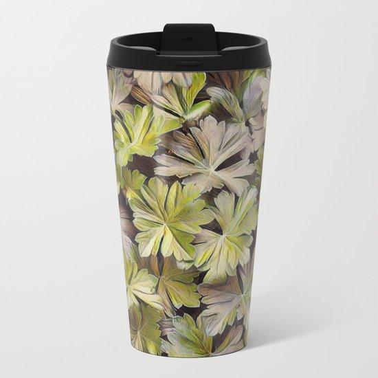 Leafy Abstract Metal Travel Mug
