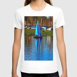 Little Blue Sailboat  T-shirt