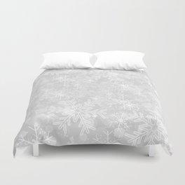 Silver Snowflakes Duvet Cover
