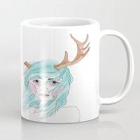 antler Mugs featuring Antler by okayleigh