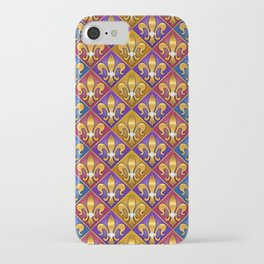 Harlequin Fleur di Lis Diamonds iPhone Case