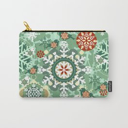 snow in garden Carry-All Pouch