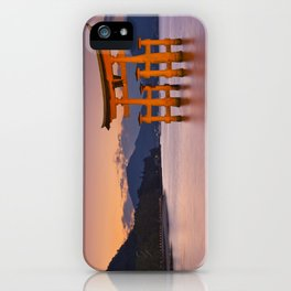 II - Miyajima torii gate near Hiroshima, Japan at sunset iPhone Case