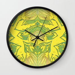 Mirror Leaves Wall Clock