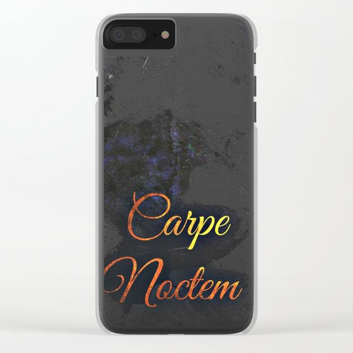 Carpe Noctem (Seize The Night) 2 Clear iPhone Case