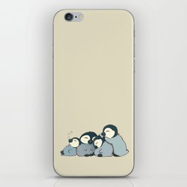 Pile of penguins iPhone Skin