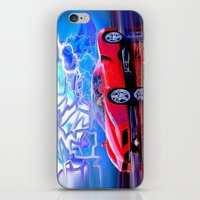 ferrari iPhone & iPod Skins featuring Ferrari Enzo by JT Digital Art