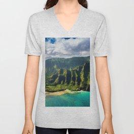 Island of Kauai, Hawaiian Islands Unisex V-Neck