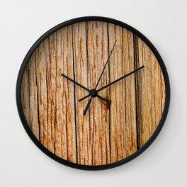 Power Pole Wood Grain Wall Clock