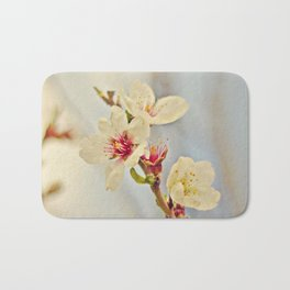Almond Blossoms in the Wind Bath Mat