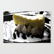 Iced Lemon Cake Canvas Print
