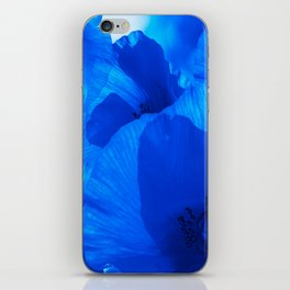 Blue Poppies #decor #society6 #buyart iPhone Skin
