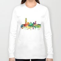 oklahoma Long Sleeve T-shirts featuring Oklahoma City, Oklahoma skyline SP by Marlene Watson