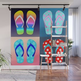 Flip Flop Pop Art Wall Mural