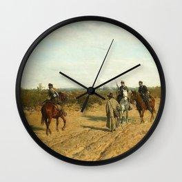 Maksymilian Gierymski - Insurgent patrol - picket Wall Clock