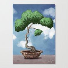 'Bonsai choose own way grow because root strong' (Miyagi version) Canvas Print