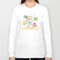 astronaut Long Sleeve T-shirts featuring Astronaut by Alapapaju