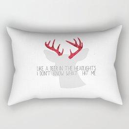 Deer meets headlights  Rectangular Pillow