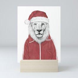 Santa lion Mini Art Print